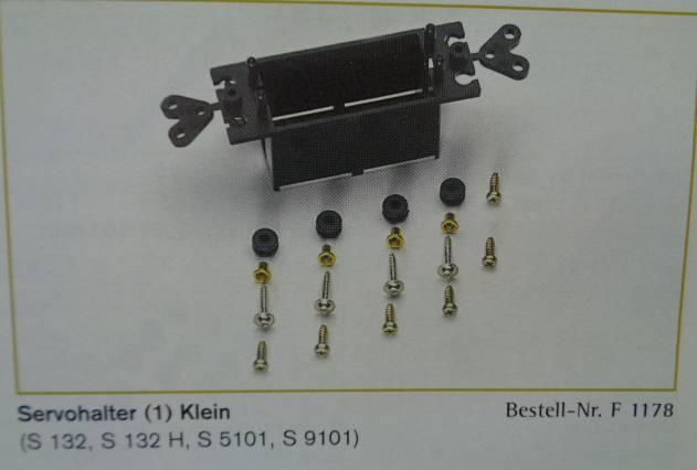 Servohalter, klein für Servo S132, S132H, S5101, S9101
