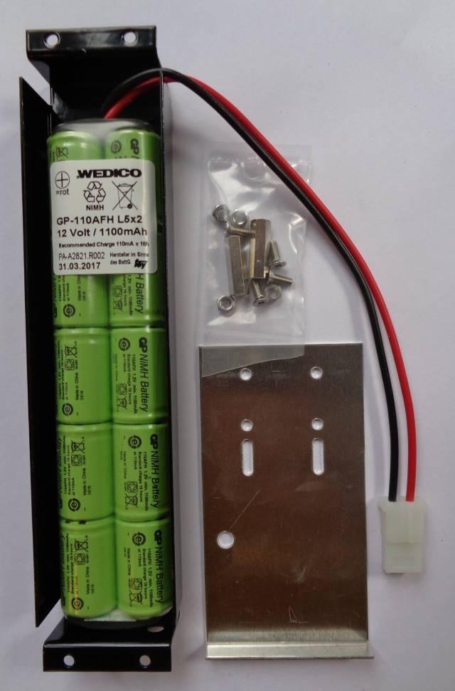 Wedico-Batteriekasten mit Akku 12 V 1100 mmAH NiMH