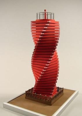 Leuchtturm Wando Hang Laser Kartonbausatz