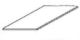 SSS-101 Polistyrolpl., weiß, 175x300mm, 0,25mm dick, (8 St.)