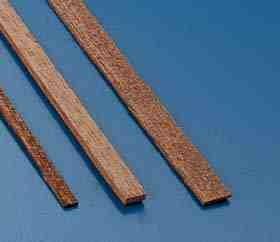 Nussbaumleisten 1,5x7mm(10Stk.), 1 m lang