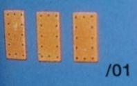 Kupferbeschlag 6 x 12 mm, 100 Stück