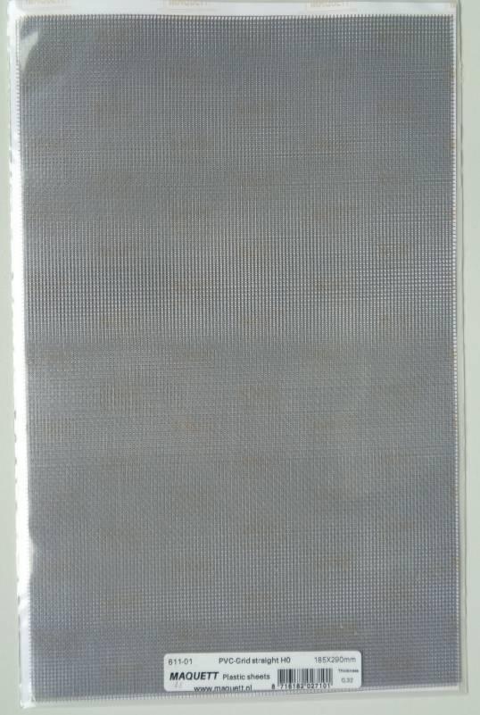 Gitter-Blech aus Kunststoff, PVC, Gitter gerade, 1 Stück