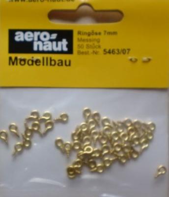 Ringösen Messing,  7mm, 50 Stück