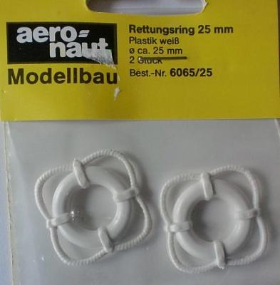 Rettungsringe 25 mm, weiß, 2 Stück