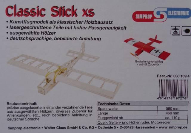 Classic Stick xs  - Spannweite 58 cm -