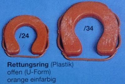 Rettungsringe 20 mm, offen U-Form, orange