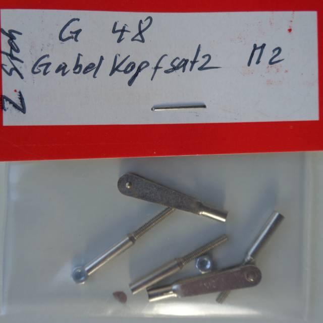 Gabelkopf-Satz M 2,  mit Stift, 2 Stück