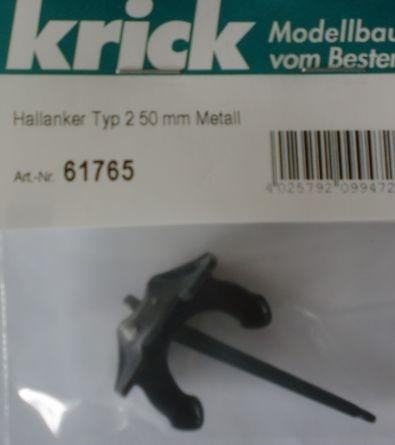 Hallanker Typ 2, Länge 50 mm,  Metall