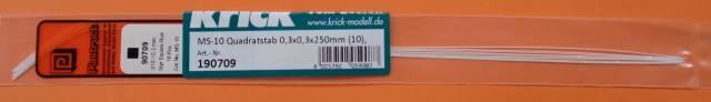 MS-10 Quadratstäbe 0,3 x 0,3 x 250 mm, 10 Stück
