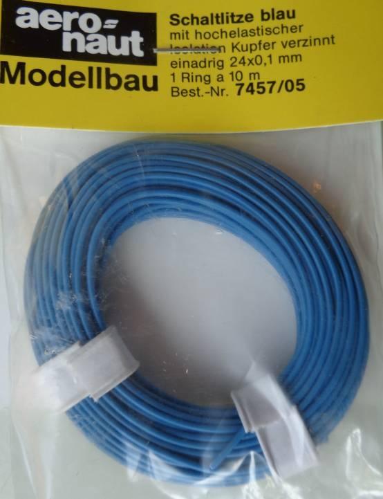 LITZE blau 10 m, einadrig 24 x 0,1 mm