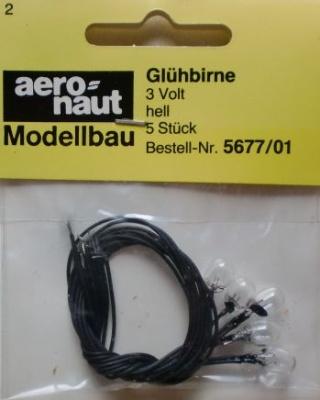 Glühbirne 3 V, hell (5 Stck.) für Scheinw. 5667/10