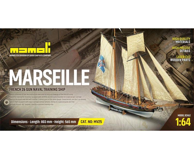 Marseille  Bausatz 1:64 Mamoli. Länge 80,30 cm