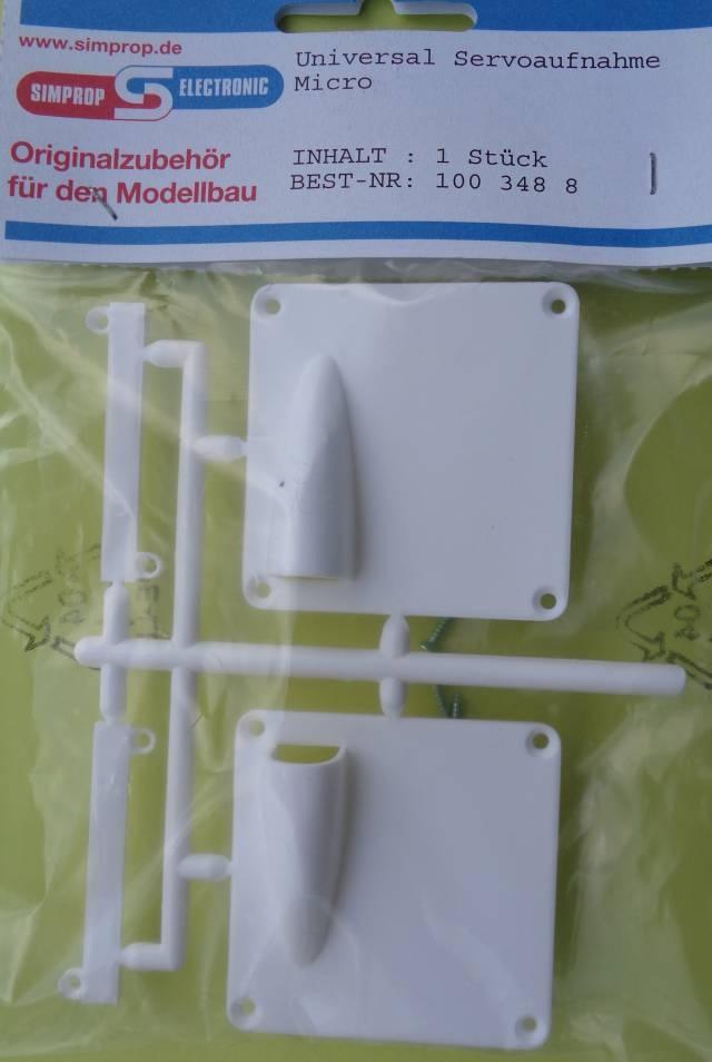 Universal Servoaufnahme, Micro, 1 Paar    - Neu -