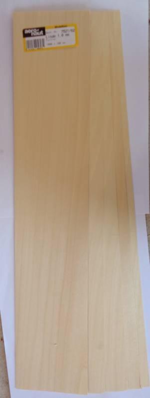 Linde-Furnier 1000x100x1,0 mm, 10 Stück