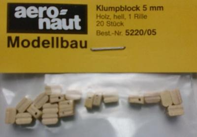 Klumpblock (Holz), hell, 5 mm hoch
