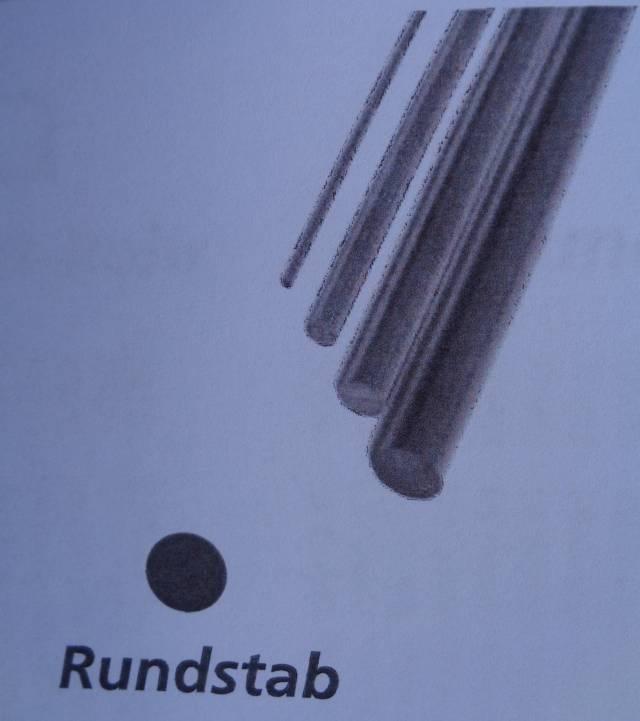 CfK-Rundstab Ø 8 mm, 1 m lang