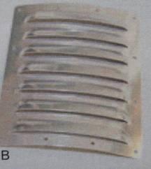 Alu-Lüftungsgitter, 120 x 100  mm, 1 Stück