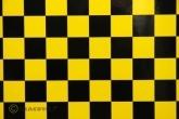 m ORACOVER-Bügefolie  FUN 3, kariert 25x25mm, gelb-schwarz
