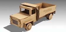 Holz-Truck Laser-Cut