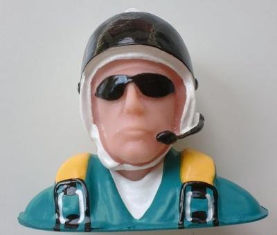 Pilotenbüste Sport, 112 mm breit, 97 mm hoch