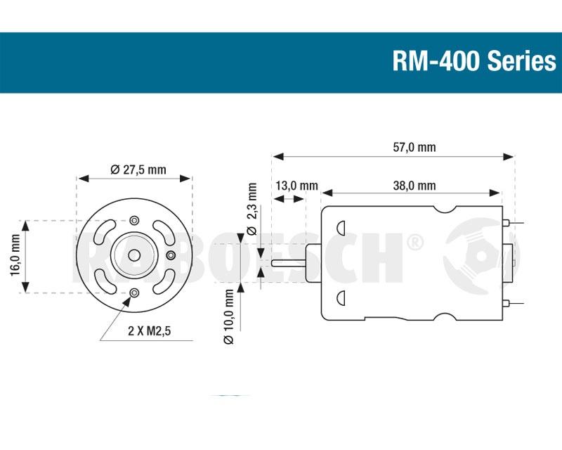 Elektromotor Blue RM-410 7,2V