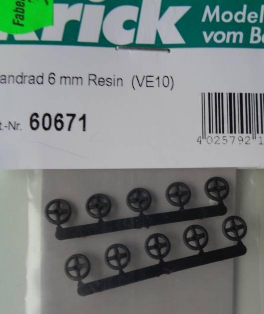 Handräder, 6 mm, Resin,  (VE10)