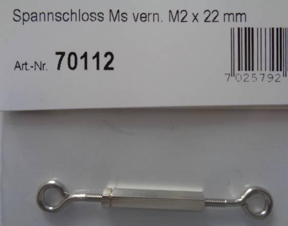 Spannschloß Ms vern. M2 x 22 mm
