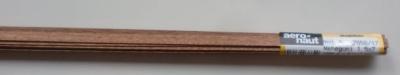 MAHAGONI-Vierkantleistern 1,5 x 7 mm, 1 m lang, 10 Stück