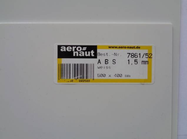 ABS 500x400x1.5 mm