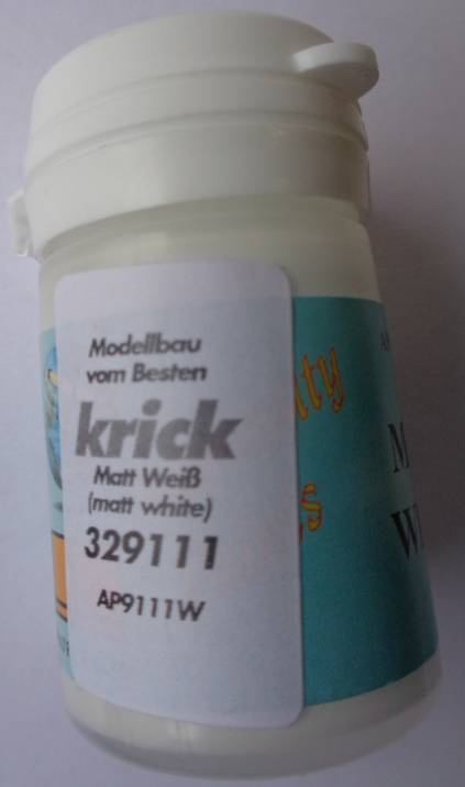 Matt weiß (Matt White) Admiralitätsfarbe, 15 ml