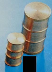 Fässer, messing,  Ø 8, Länge 13 mm, 4 Stück