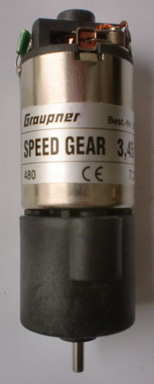 SPEED GEAR 480 3,45:1 7,2 V,2-stufiges Kompaktgetr.m.E-Motor