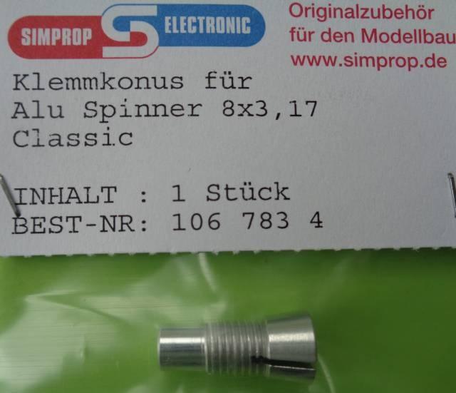 Klemmkonus f. Alu Spinner 8 x 3,17 Classic