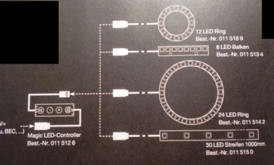 Magic-LED 30-LED Streifen 1000 mm