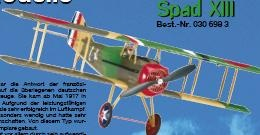 SPAD XIII (ARF) - Spannw. 86,5 cm -