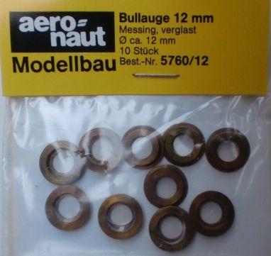 Bullauge Ms Ø 12mm, innen 8 mm, 10 Stück