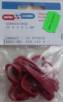 GUMMIRING 60 X 5 X 1 mm, 10 Stück