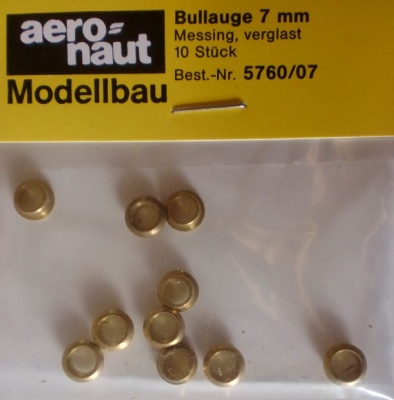 Bullauge Ms  Ø 7 mm, innen 5 mm, 10 Stück