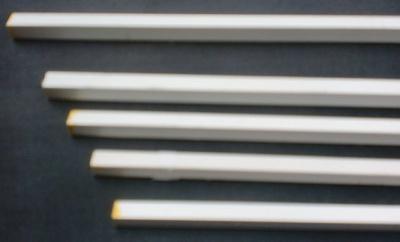 5 Stück Plastikprofil 3-Kant 90° 1000 x 1 mm