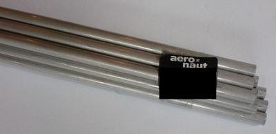 Alu-Rohr, halbhart nahtlos, außen 4 mm, innen 3,1 mm, 1m lg.