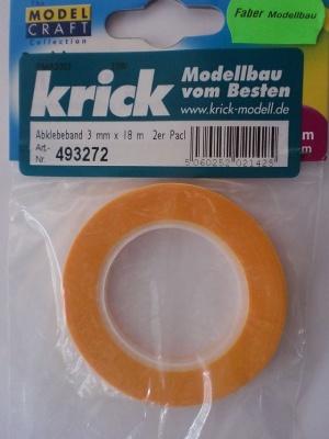 Abklebeband, Breite 3 mm, Länge 18 m, 2 Rollen