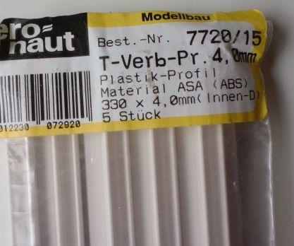 5 Stück Plastik-Profile, ASA (ABS)
