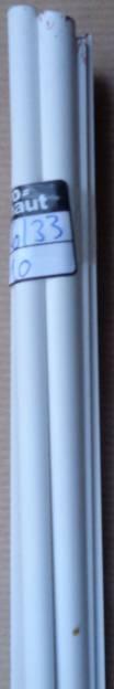 5 Stück Plastik-Profil, halbrund, Ø 8 mm, 1 m lg.