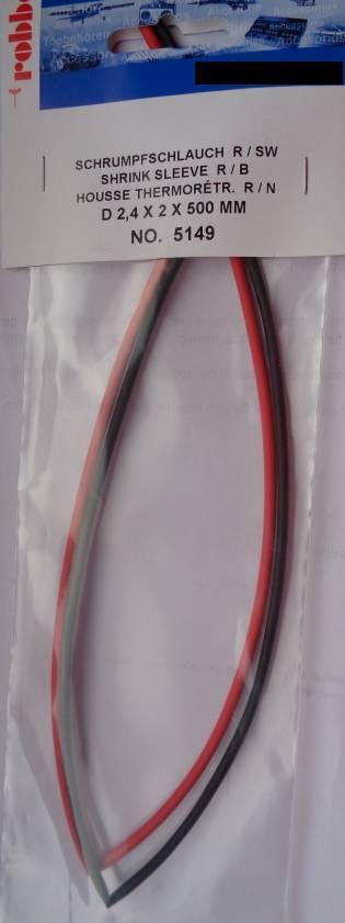 Schrumpfschlauch,  Ø 2,4 mm, 1 m