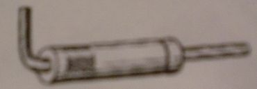Riegelschieber, groß, aus Metall zum Einkleben
