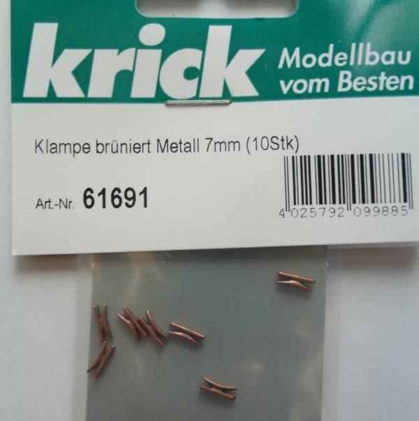 Klampe brüniert Metall 7mm (10 Stück)