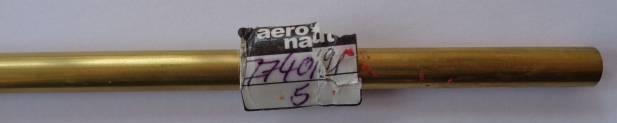 Messingrohr  9,0/8,1 mm, Länge 1 m, 1 Stück