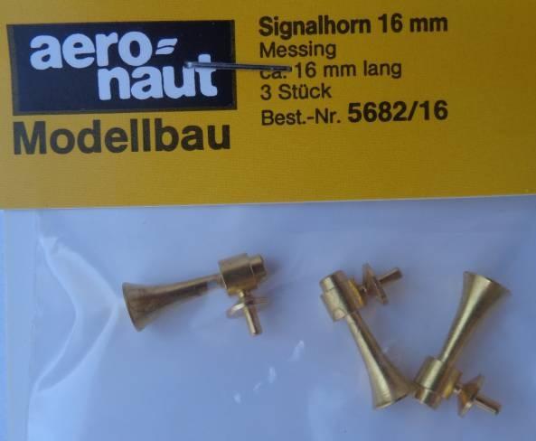 Signalhorn, messing, 16 mm lang, 3 Stück