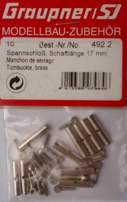 Spannschloss, Schaftlänge 17 mm,  10 Stück